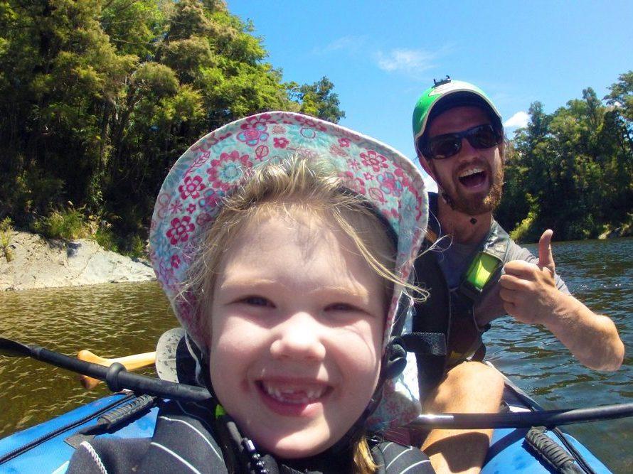Family Kayak New Zealand River