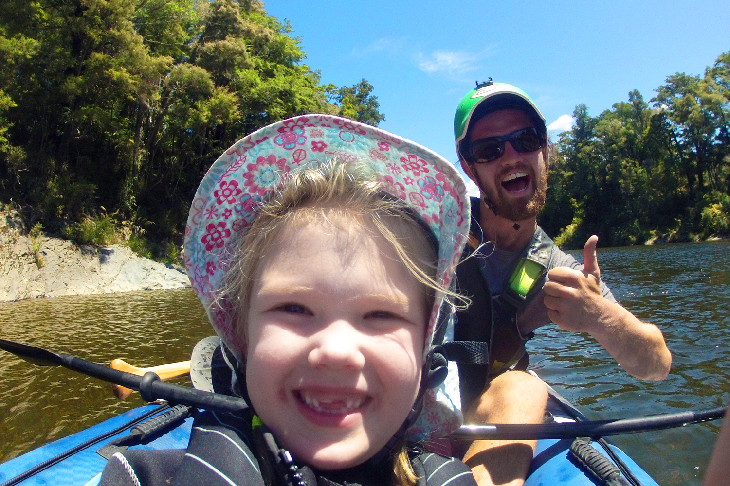 Family Kayak New Zealand River