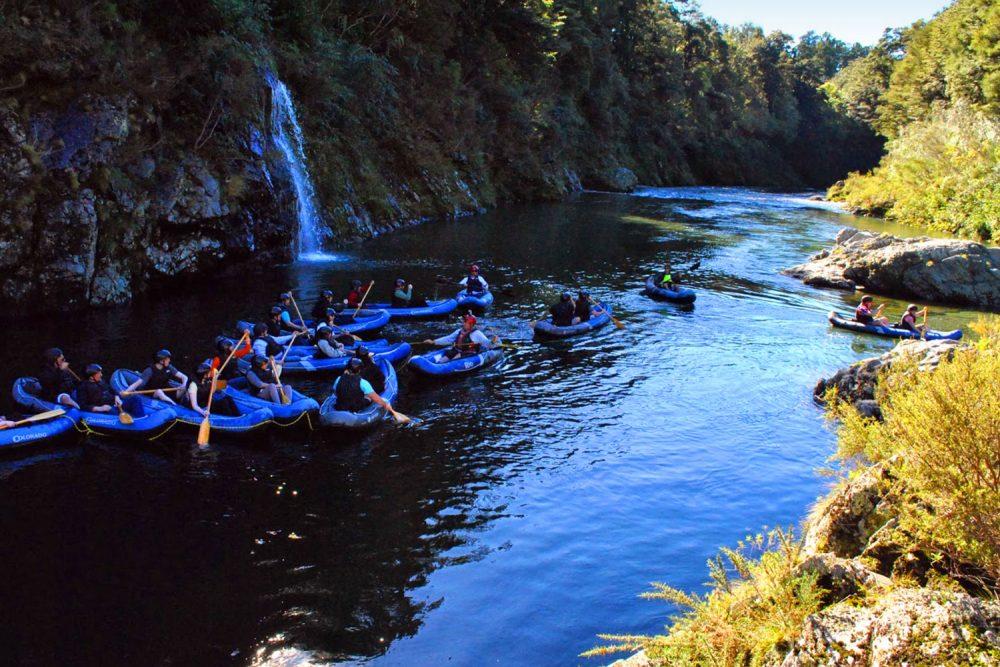 Group Kayakers New Zealand