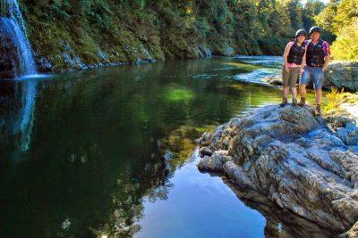 Happy Couple Kayakers New Zealand
