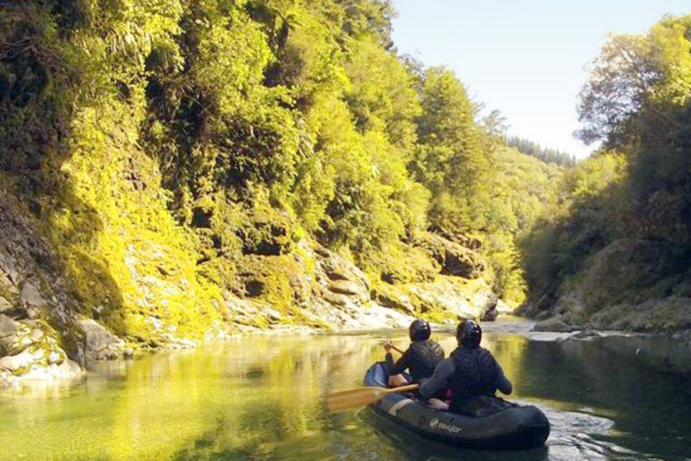 Kayaking New Zealand River