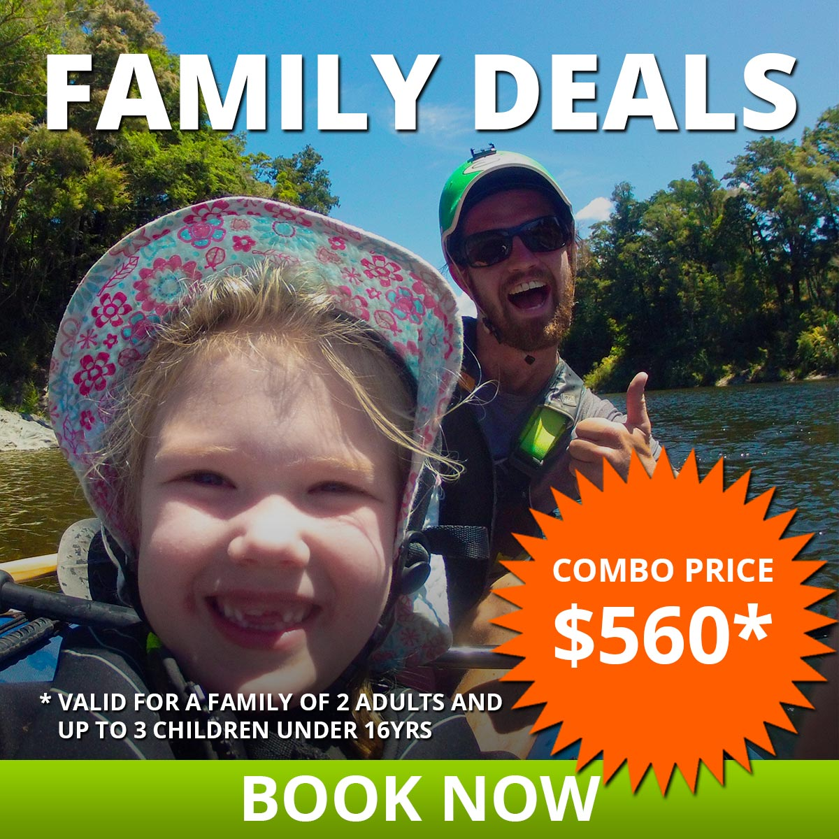 Hobbit Kayak Tour Family Deals