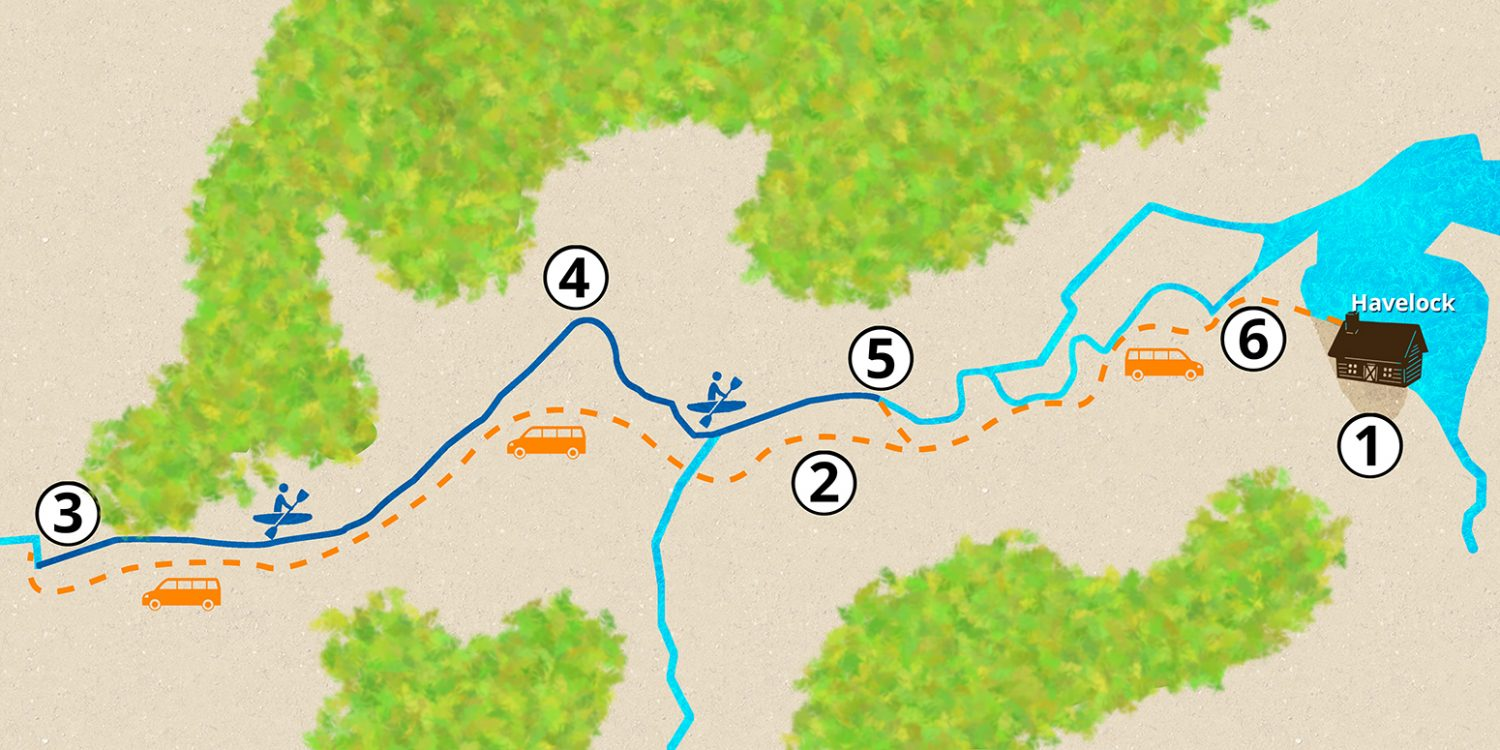 Hobbit Kayak Tour Map