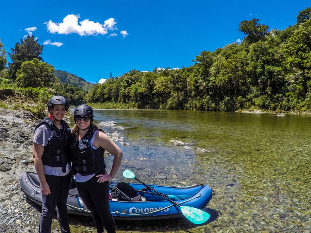 Couple of Kayakers at the Pelorus River in New Zealand
