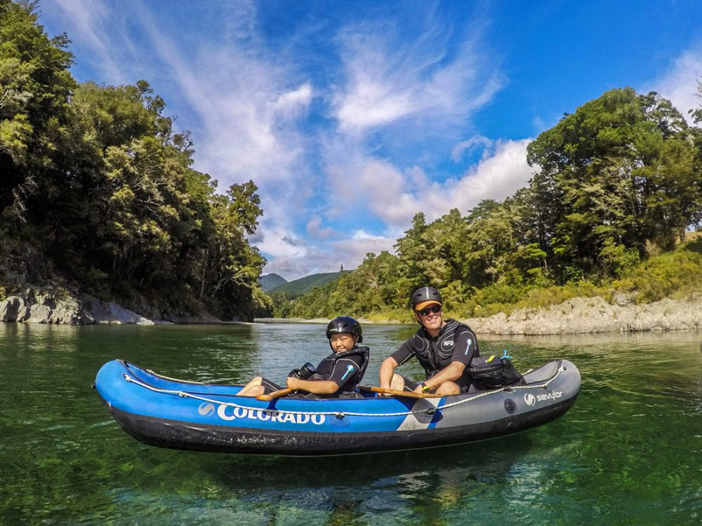 Family Kayaking in New Zealand