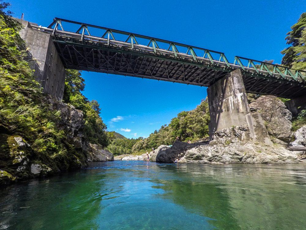 Pelorus River Bridge in New Zealand