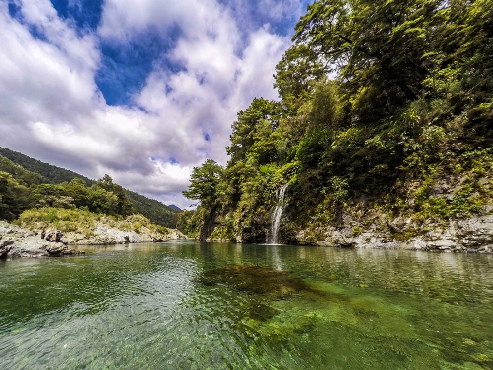 Beautiful Pelorus River in New Zealand