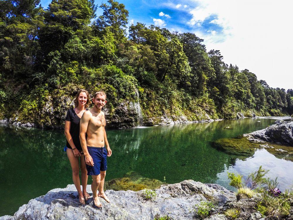Couple Pelorus River New Zealand