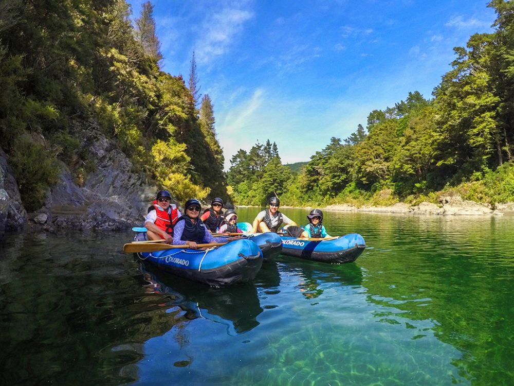 Family Kayaking New Zealand