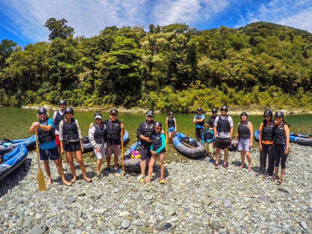 Group Kayaking Pelorus River NZ