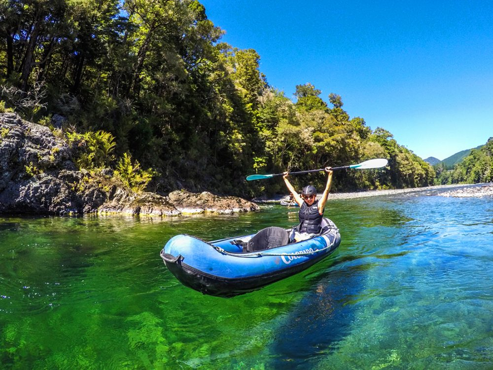 Kayaker New Zealand Pelorus River