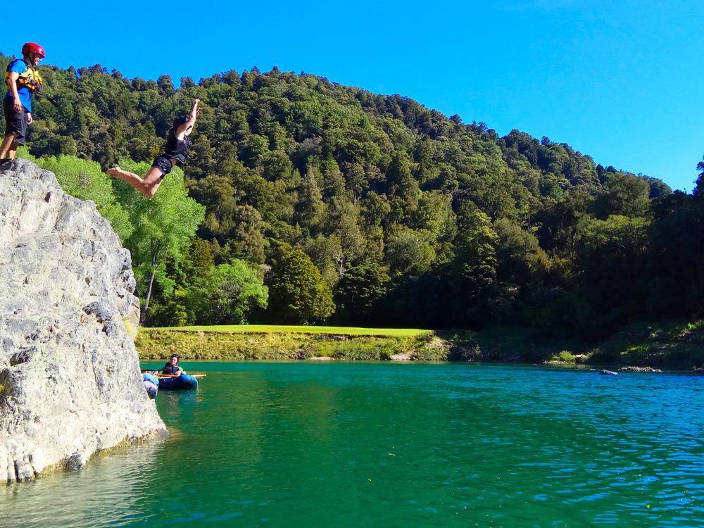 Private Kayaking Tour New Zealand Jumping