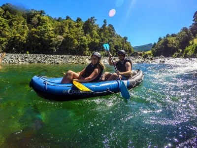 Couple Kayaking the Pelorus River