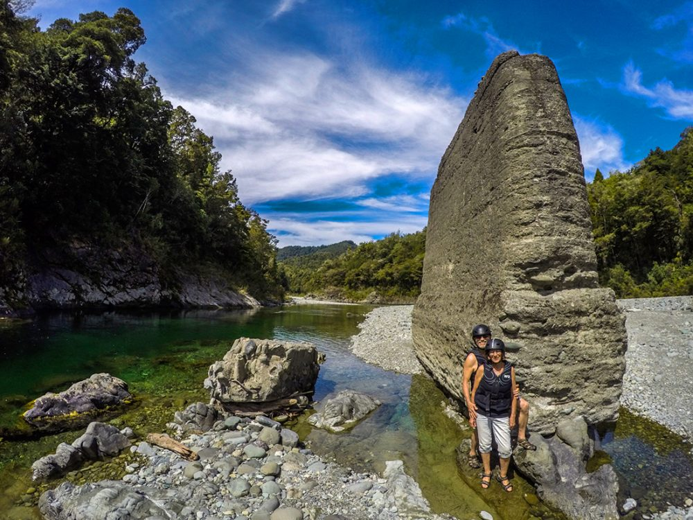 Couple at Pelorus River, New Zealand