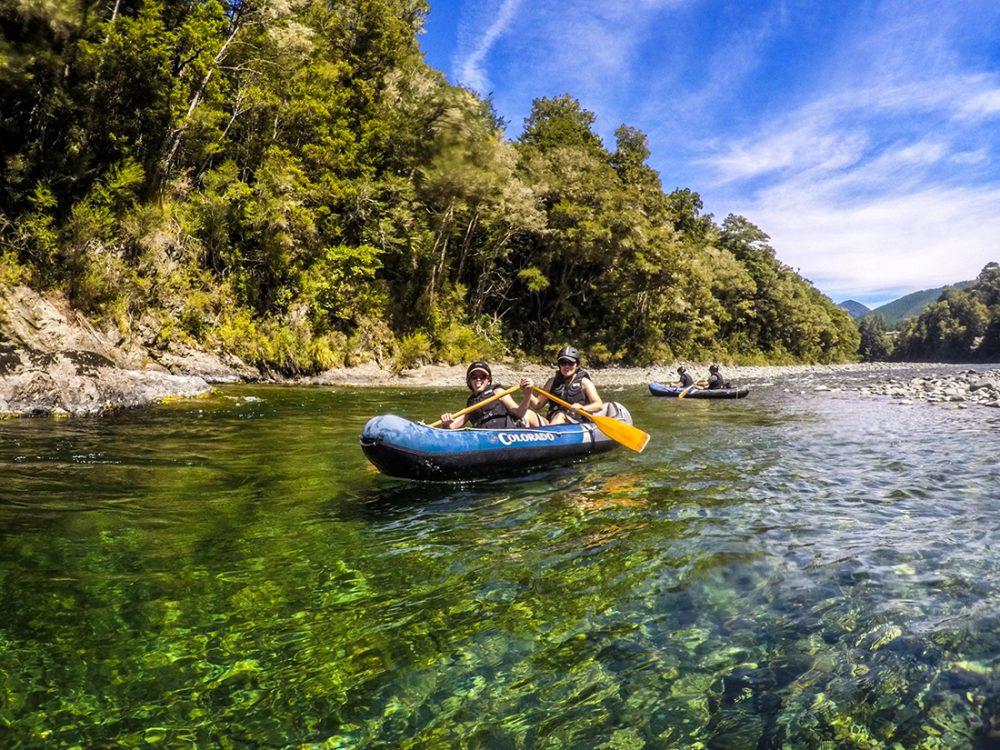 Ladies Kayaking Pelorus River