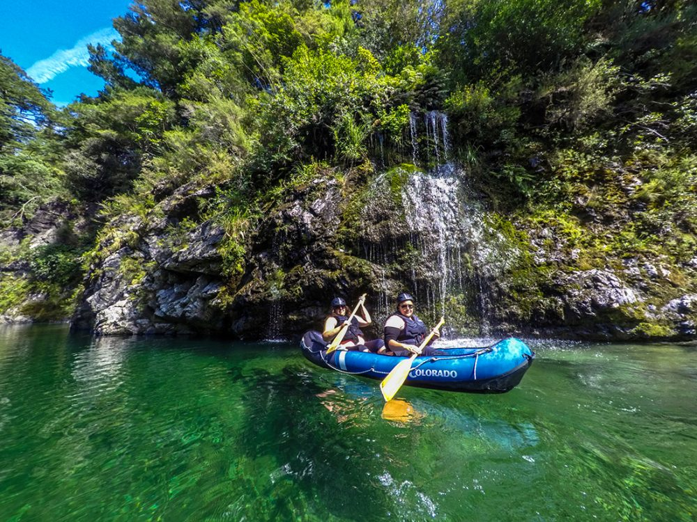 Kayaking Pelorus River Falls