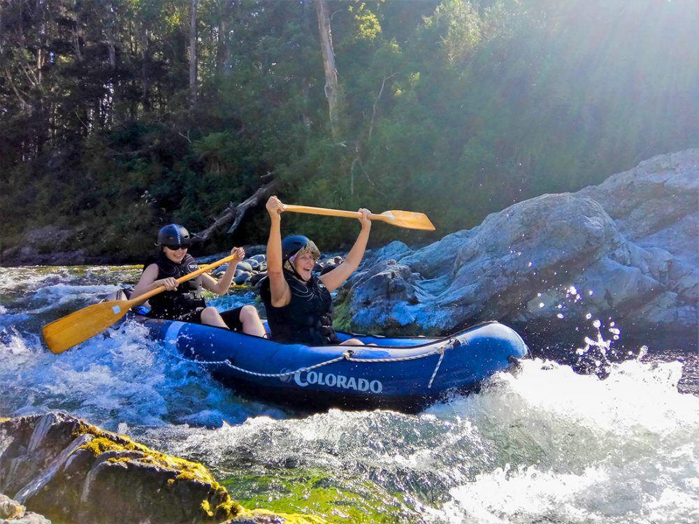 Kayaking Pelorus River Rapids