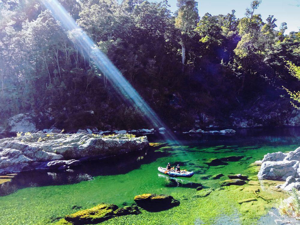 Kayaking Beautiful Pelorus River NZ