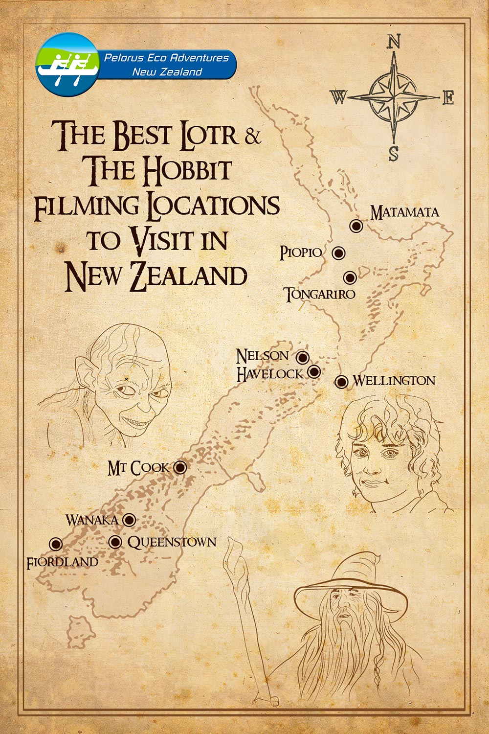 Lord of the Rings Filming Locations Map New Zealand