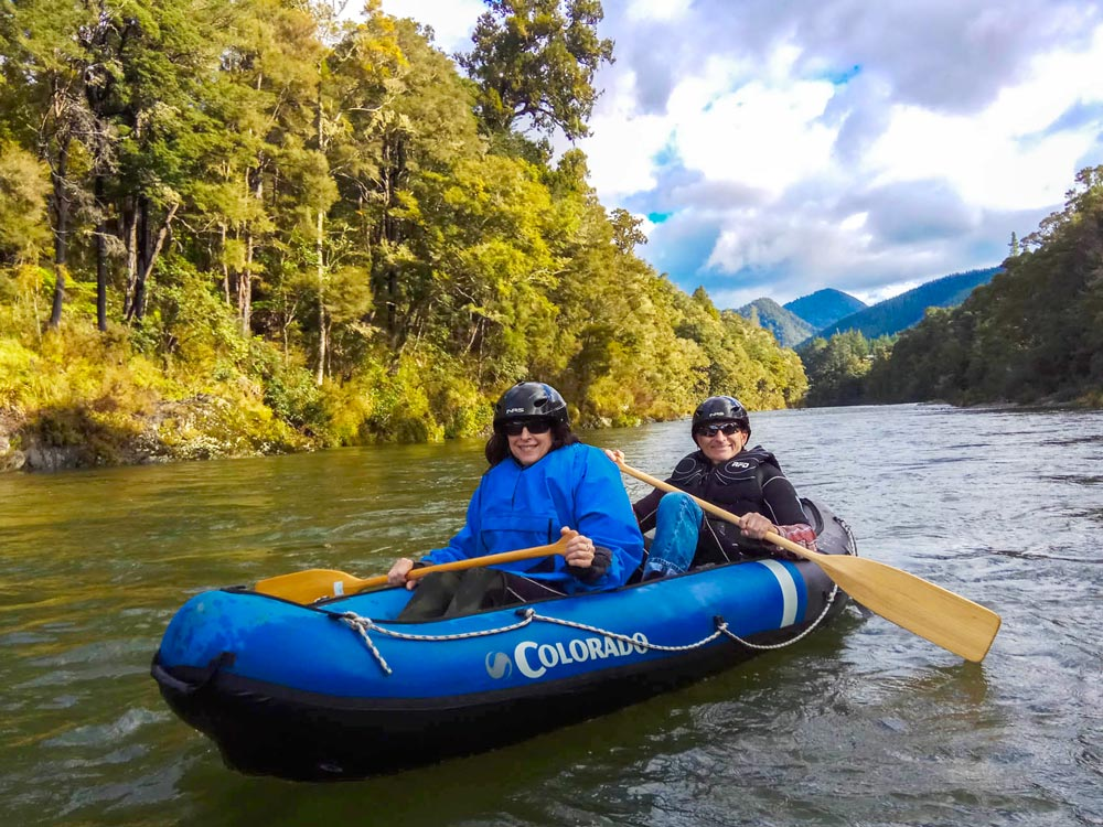 Couple Kayaking Pelorus River Havelock