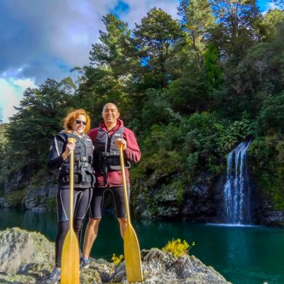 Couple Pelorus River Falls Marlborough