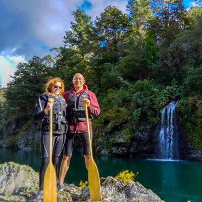 Couple Pelorus River Falls Marlborough