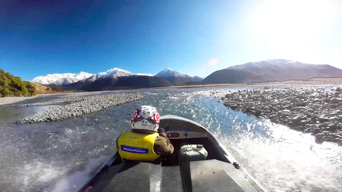 New Zealand South Island Adventure Itinerary Waimakariri River Jetboating