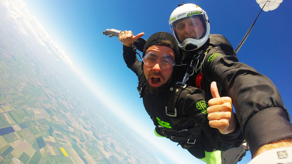 Skydiving at Ashburton, New Zealand