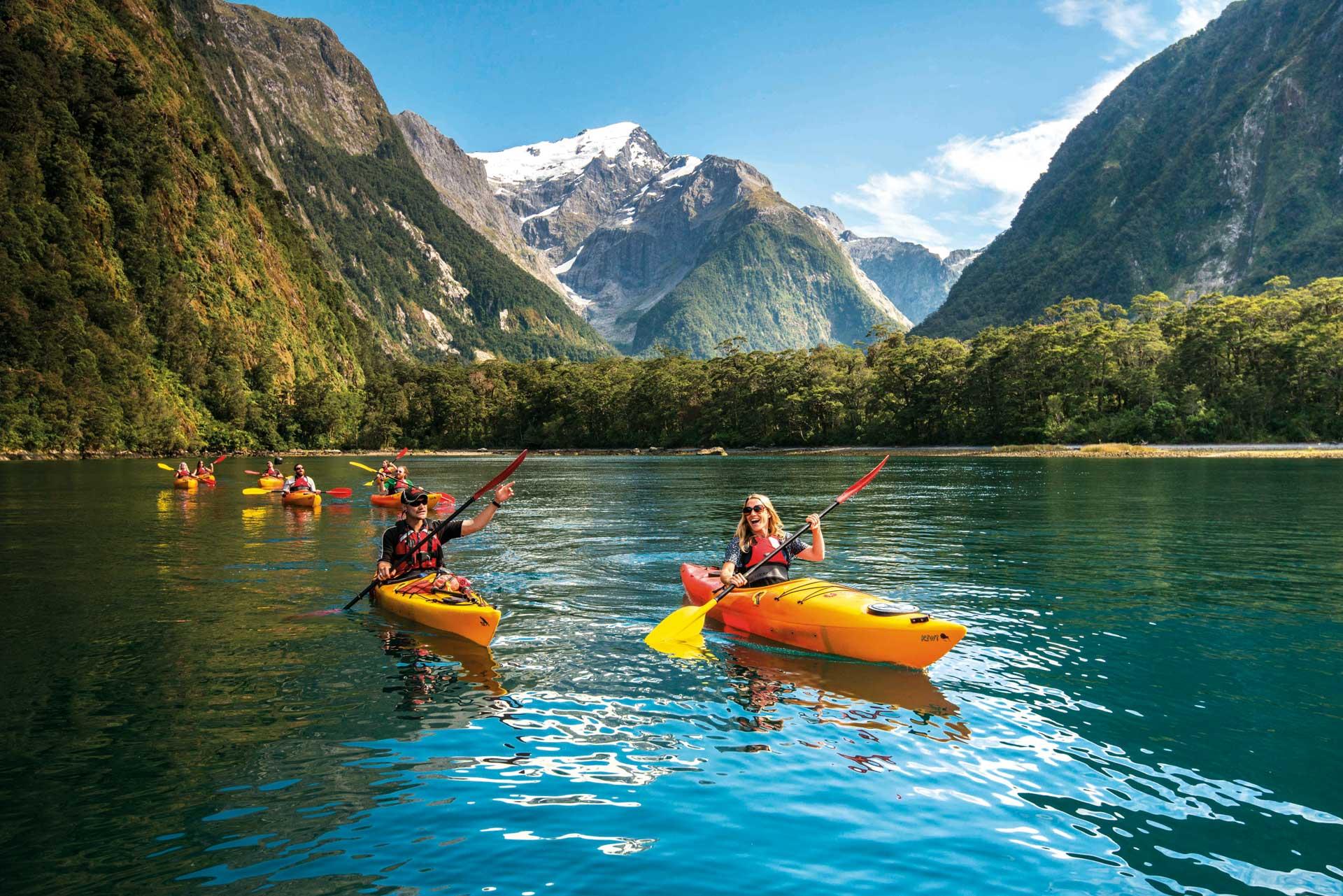 Pelorus Kids 4 Milford Sound Kayak New Zealand