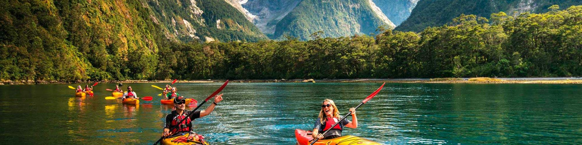 Family Adventure New Zealand Kayak Banner