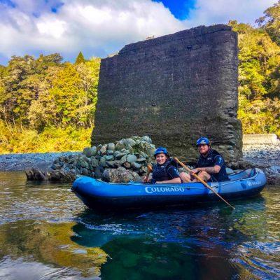 Couple experiencing the Hobbit Kayak Tour, NZ