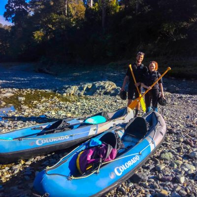 Couple Kayak the Pelorus River, NZ