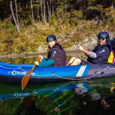 Couple Kayaking the Pelorus River in Havelock