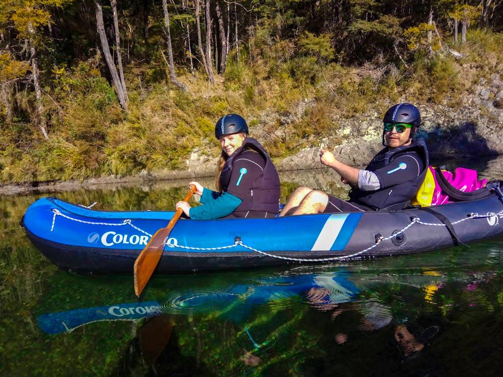 Couple Kayaking the Pelorus River in Havelock