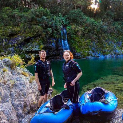 Couple at Pelorus River Falls, NZ