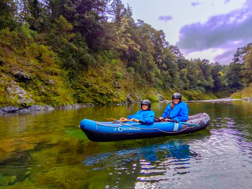Mum and Son Kayaking in New Zealand