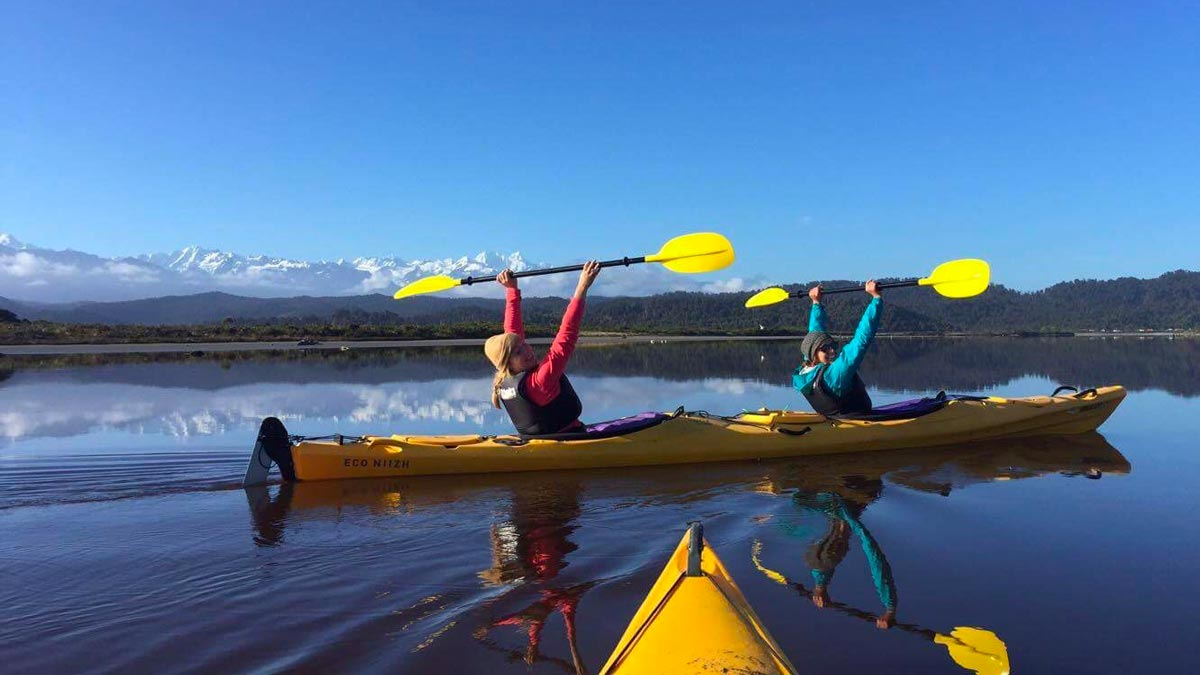 Hidden Kayaking Gems New Zealand Okarito Lagoon