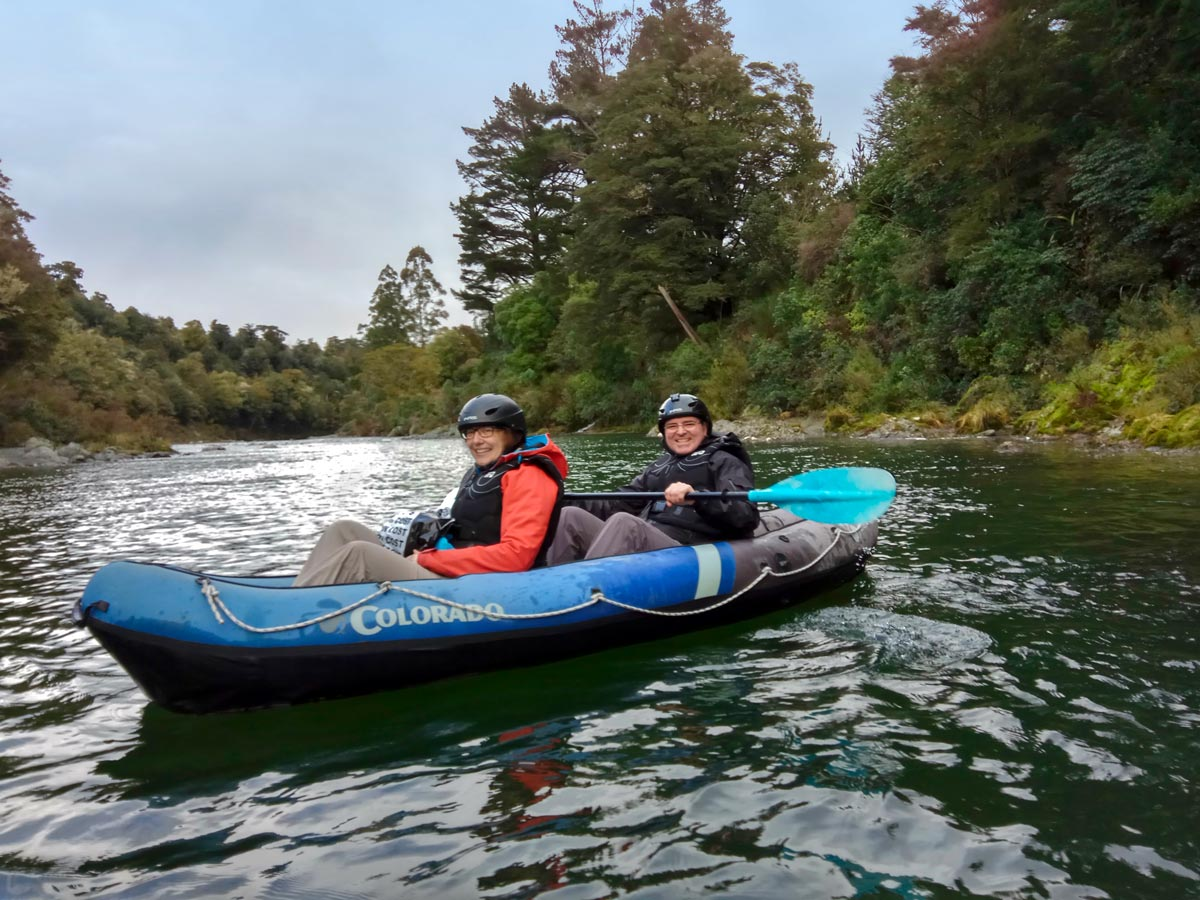 Couple Kayaking on New Zealand River