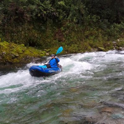 Kayaking Rapids in Marlborough, New Zealand