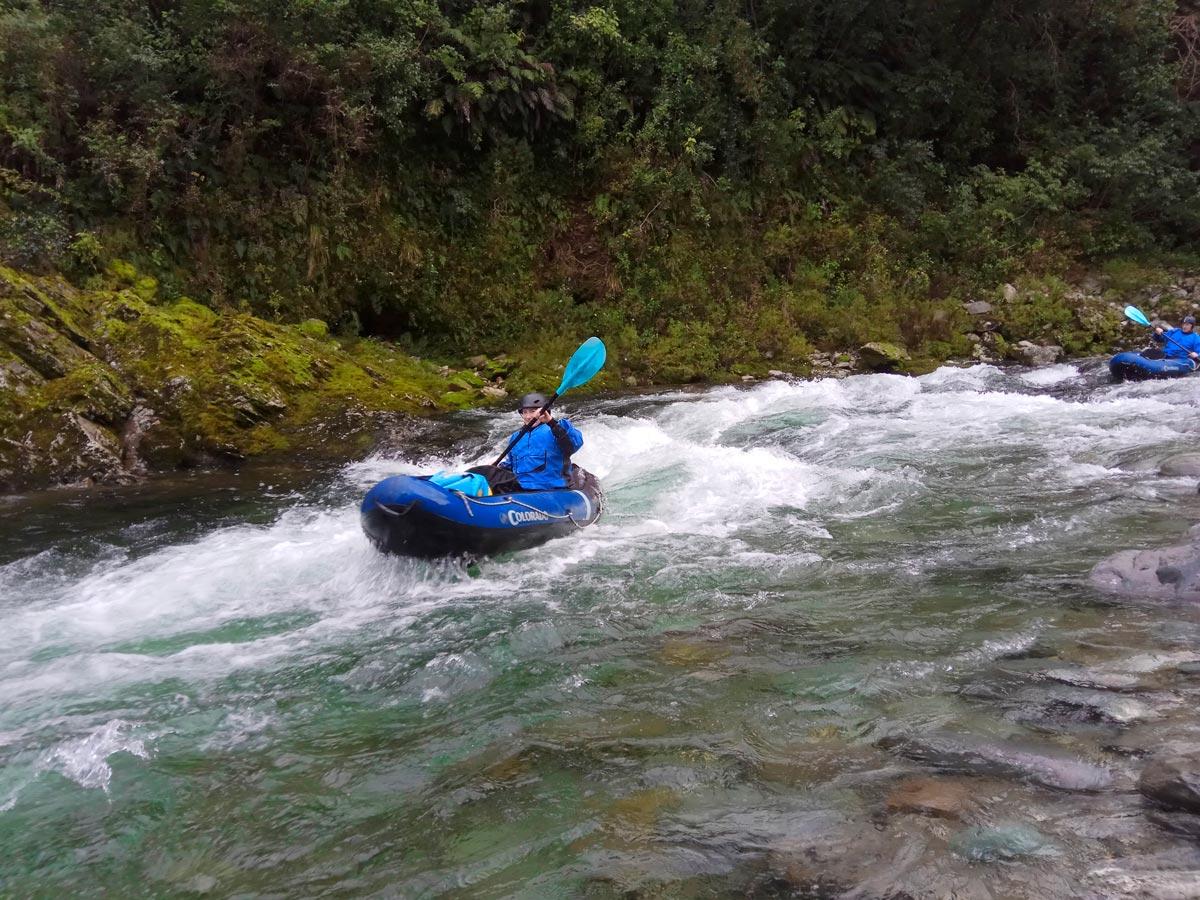 Kayaking Rapids in Marlborough, New Zealand