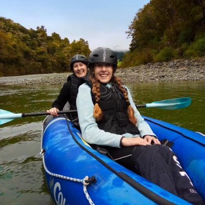 Mum and Daughter Kayaking in New Zealand
