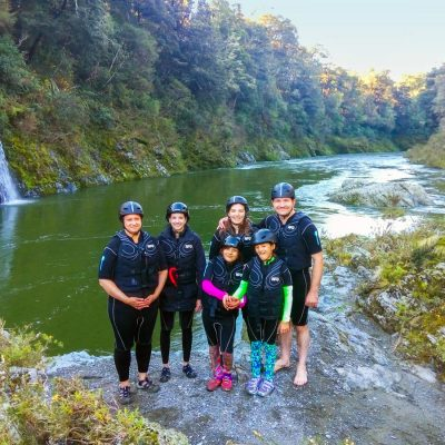 Kayak Group at the Pelorus River, New Zealand