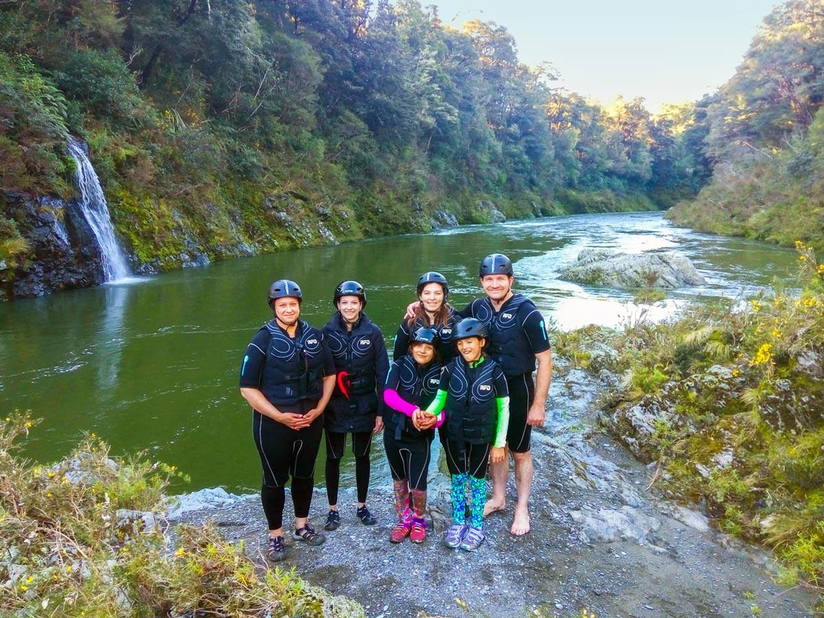 Kayak Group at the Pelorus River, New Zealand