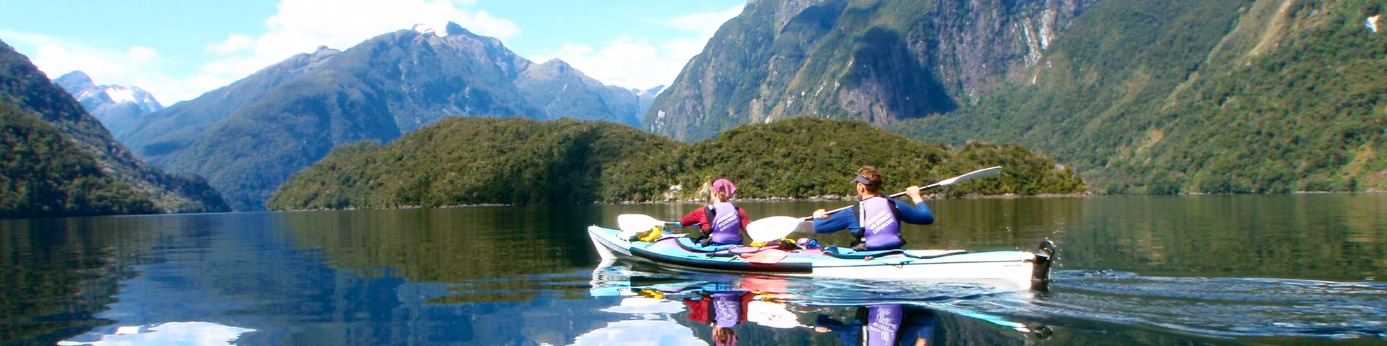 Kayak Nature Tour New Zealand Banner