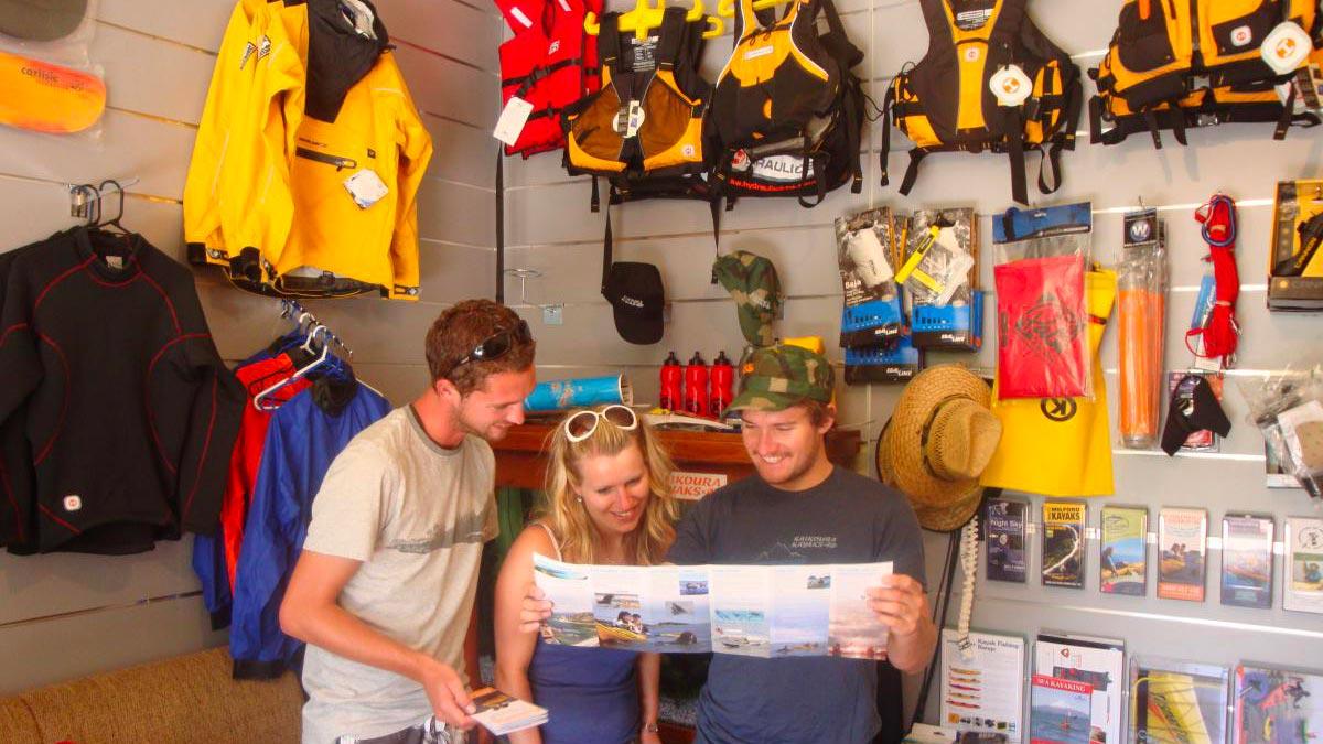 Kayak Shop & Rental in Kaikoura, New Zealand