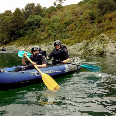 Family Kayaking on the Pelorus River, NZ