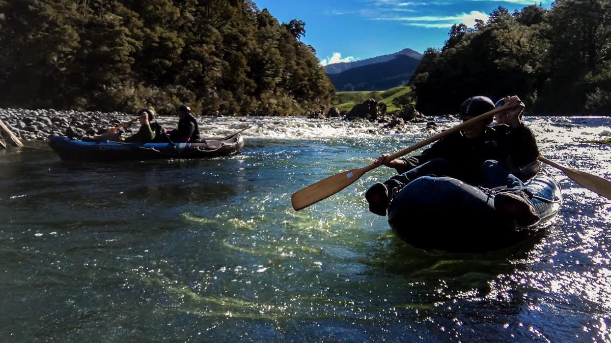 Hobbit Kayak Tour at the Pelorus River, New Zealand