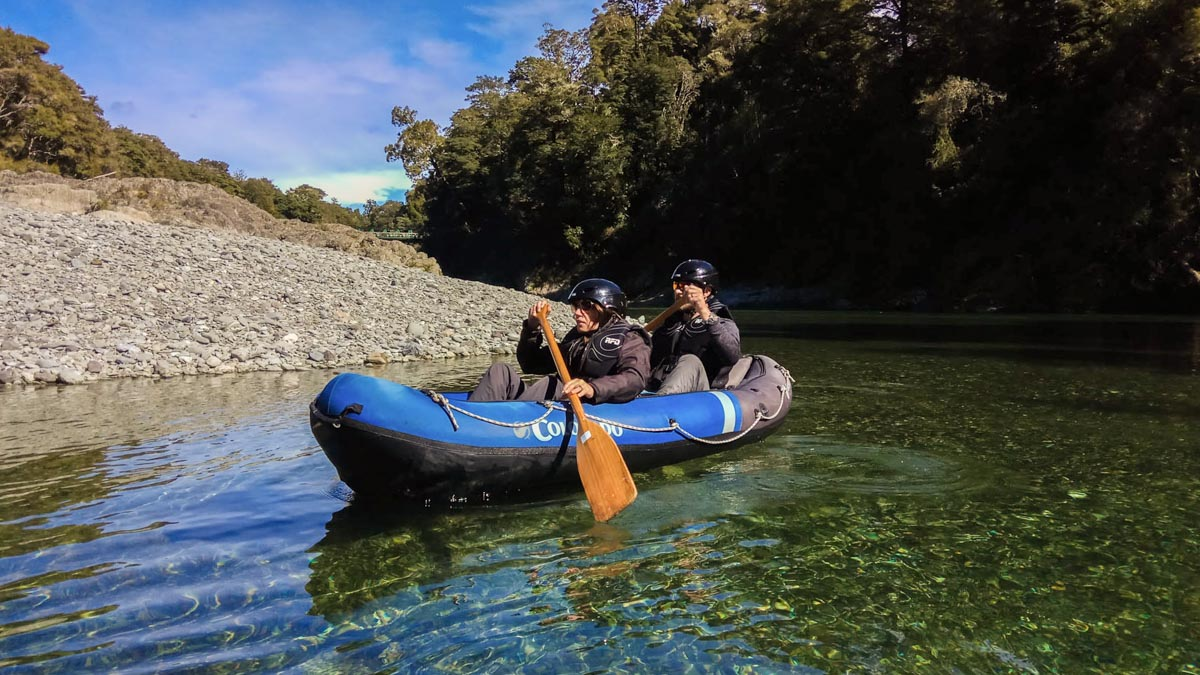 Kayaking on the Beautiful Pelorus River in New Zealand