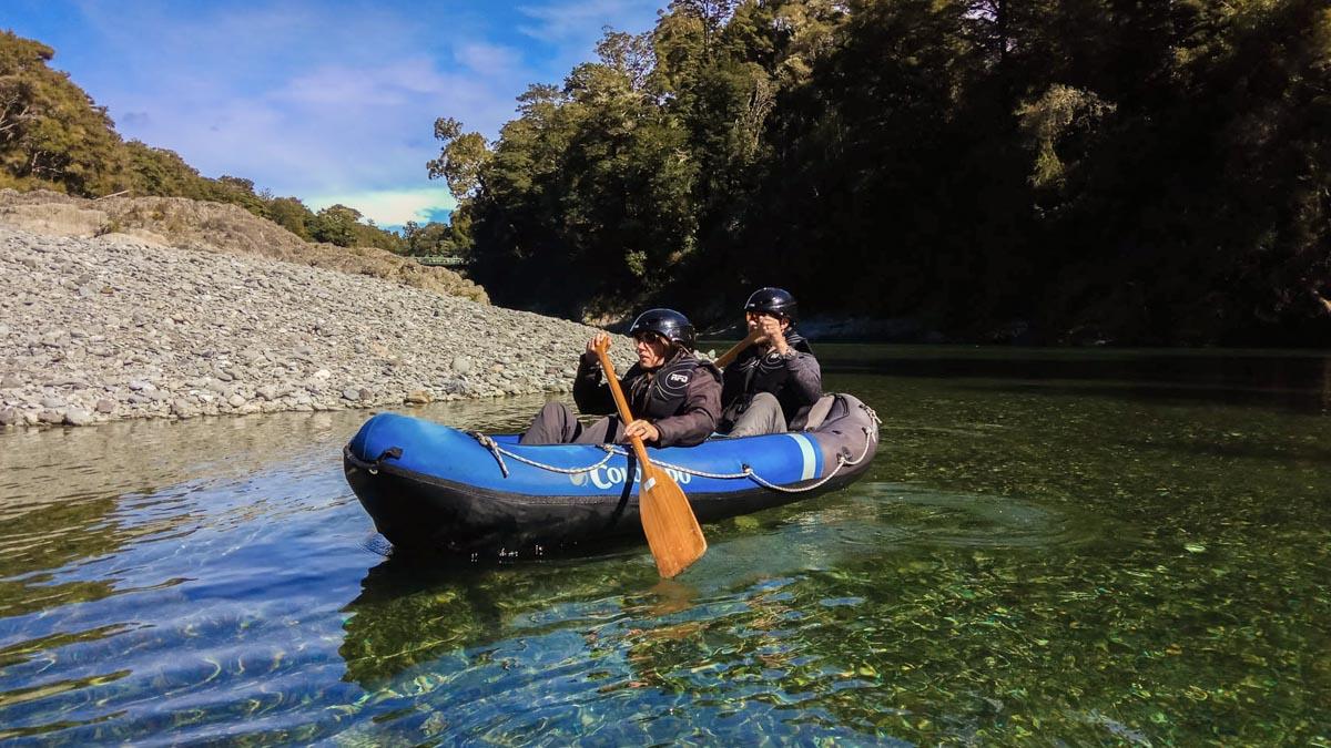 Kayaking on the Beautiful Pelorus River in New Zealand