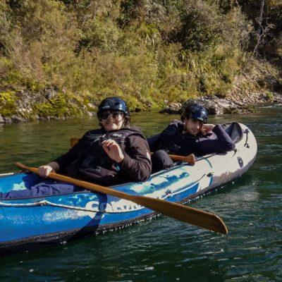 Kayaking at the Pelorus River, Havelock New Zealand